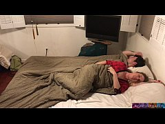 Stepson and stepmom sleep together and fuck while visiting family - Erin Electra (trailer)